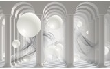 Fotobehang 3D, Modern | Wit | 104x70,5cm