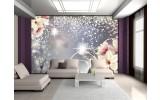 Fotobehang Magnolia, Modern | Zilver | 208x146cm
