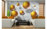 Fotobehang 3D | Goud, Grijs | 152,5x104cm