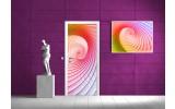Fotobehang Abstract | Paars, Roze | 91x211cm