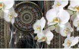 Fotobehang Klassiek, Orchidee | Wit | 312x219cm