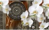 Fotobehang Klassiek, Orchidee | Bruin | 152,5x104cm