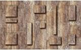 Fotobehang Papier Hout | Bruin | 254x184cm