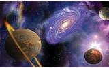 Fotobehang Universum | Blauw, Paars | 152,5x104cm