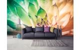 Fotobehang Bloem, Modern | Groen | 152,5x104cm