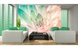 Fotobehang Papier Bloem, Modern | Turquoise | 368x254cm
