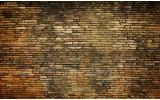 Fotobehang Muur | Bruin | 208x146cm