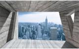 Fotobehang Skyline, Modern | Blauw | 104x70,5cm