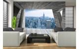Fotobehang Skyline, Modern | Blauw | 208x146cm