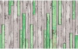Fotobehang Hout | Groen, Grijs | 152,5x104cm