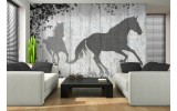 Fotobehang Paarden, Modern | Grijs | 312x219cm