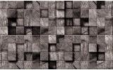 Fotobehang Hout | Grijs | 208x146cm