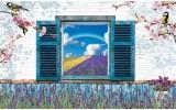 Fotobehang Landelijk | Blauw | 152,5x104cm