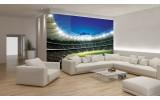 Fotobehang Voetbalveld | Groen | 416x254