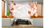 Fotobehang Papier Bloemen, Modern | Oranje | 254x184cm