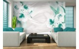 Fotobehang Bloemen, Modern | Groen | 416x254
