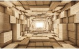 Fotobehang 3D, Hout | Bruin | 152,5x104cm