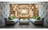 Fotobehang 3D, Hout | Bruin | 208x146cm