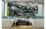 Fotobehang Papier 3D, Design | Zilver | 254x184cm