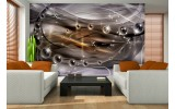 Fotobehang Papier 3D, Design | Paars | 368x254cm