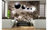 Fotobehang 3D, Design | Bruin | 104x70,5cm