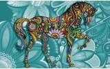Fotobehang Paard | Turquoise | 152,5x104cm