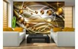 Fotobehang Papier 3D, Modern | Goud | 368x254cm