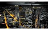 Fotobehang Papier Skyline | Grijs, Geel | 254x184cm