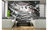 Fotobehang Papier 3D, Abstract | Zilver | 368x254cm