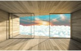 Fotobehang Wolken, Modern | Blauw | 208x146cm