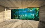 Fotobehang Natuur, Modern | Groen | 312x219cm