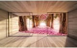 Fotobehang Boom, Natuur | Roze | 104x70,5cm
