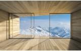 Fotobehang Bergen | Blauw, Wit | 152,5x104cm