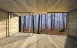 Fotobehang Papier Bos, Hout | Bruin | 254x184cm