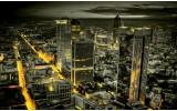 Fotobehang Skyline, Nacht | Geel | 416x254
