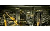 Fotobehang Skyline, Nacht | Geel | 250x104cm