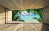 Fotobehang Papier Natuur, Strand | Groen | 254x184cm