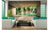 Fotobehang Natuur, Waterval | Groen | 208x146cm
