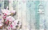 Fotobehang Vlies | Hout, Bloemen | Roze | 368x254cm (bxh)
