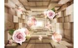 Fotobehang Vlies | 3D, Hout | Roze | 368x254cm (bxh)