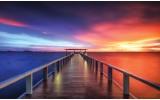 Fotobehang Vlies | Brug, Zee | Blauw | 368x254cm (bxh)