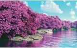 Fotobehang Vlies | Natuur | Paars, Blauw | 368x254cm (bxh)