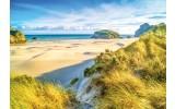 Fotobehang Vlies | Strand | Blauw, Geel | 368x254cm (bxh)