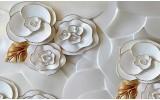 Fotobehang Vlies | 3D, Bloemen | Wit | 368x254cm (bxh)