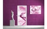 Fotobehang Abstract   Roze, Paars   91x211cm