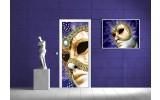 Fotobehang Abstract, Masker | Goud | 91x211cm