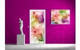Fotobehang Bloemen | Roze | 91x211cm