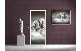 Fotobehang Paarden | Grijs | 91x211cm