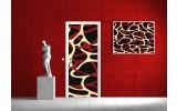 Fotobehang Abstract   Bruin, Geel   91x211cm