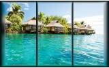 Fotobehang Vlies | Zee | Blauw, Groen | 368x254cm (bxh)